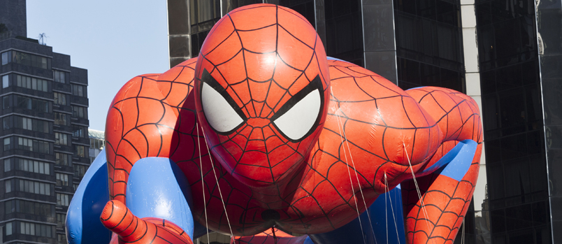Photo of a Spider-Man parade balloon