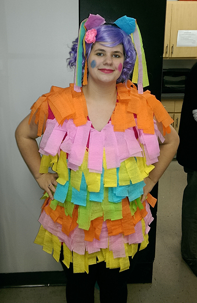 Person dressed as a pinata