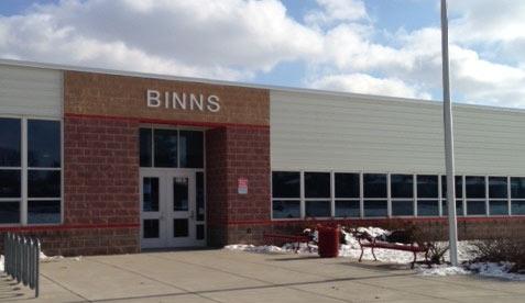 Entrance to Binns Elementary