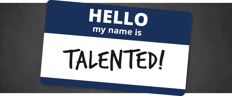 Hello, my name is TALENTED! name sticker