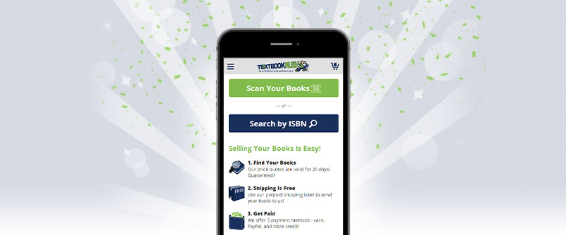 Screenshot of the TextbookRush buyback app