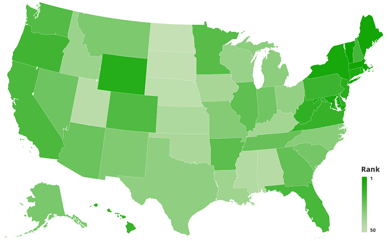 Heatmap of which states are using their quarantine time for imrpoving their education