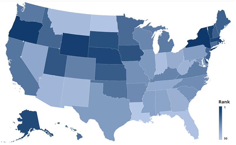 Heatmap of which states are reading the most during quarantine