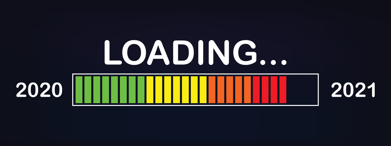 Loading bar from 2020 to 2021