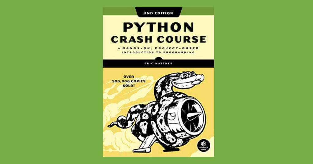 Book cover for Python Crash Course